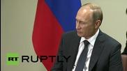 UN: Putin meets Japanese PM Abe on sidelines of UNGA