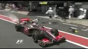 Formula1 Brazil`09 Heikki Kovalainen, Kimi Raikkonen fire