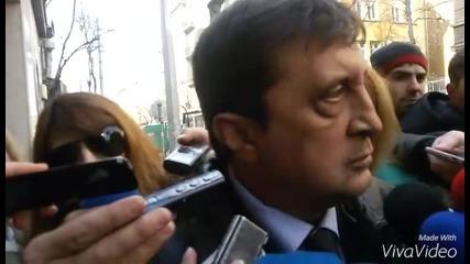 Георги Колев преди заседанието на ВСС