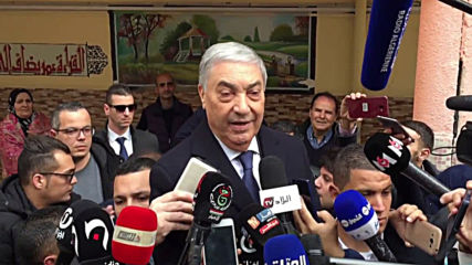 Algeria: Presidential candidate Ali Benflis casts ballot in national polls