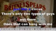 Britney Spears Circus Karaoke [lyrics on the screen]