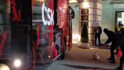 ЦСКА пристигна с новия автобус на Васил Левски