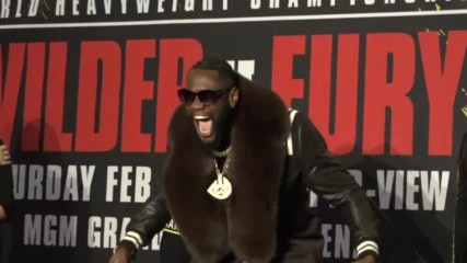 USA: May the best man win! Wilder and Fury talk the talk ahead of Las Vegas bout
