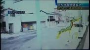 Смел японец засне как цунами погребва града му - Пристанище Kesenuma