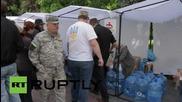 Ukraine: Protesters slam rising cost of living outside Kiev parliament