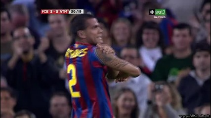 Fc Barcelona vs Atletico Madrid - 3 - 0 Alves