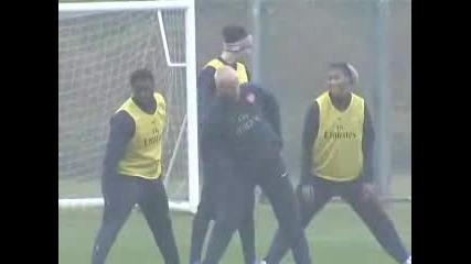 David Beckham Trenira Sas Arsenal