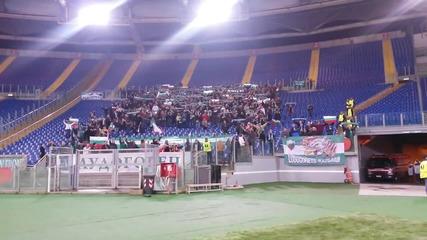 Феновете на Лудогорец пеят _мила Родино_ в Рим след победата над Лацио