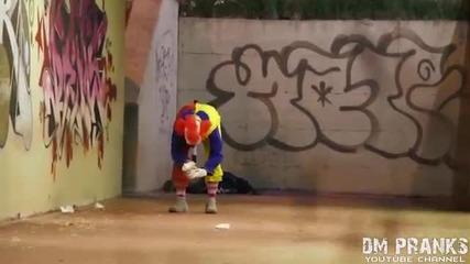 Най-бруталните шеги на клоунът убиец.