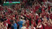 Втори гол за Дания, кошмарна грешка в отбраната на Русия