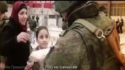Руската армия по време на мисия в борба срешу тероризма в Сирия.