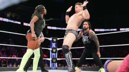 "Miz tells Asuka ""there's no hugging in wrestling!"" on WWE MMC"