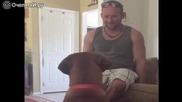 Стопанин търсеше занимавка с кучето си , но с неочакван край