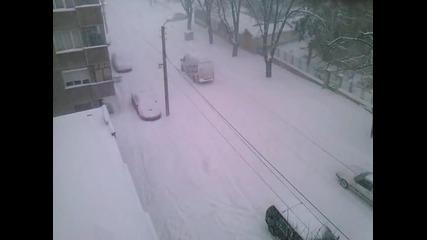 снежна буря в Разград 19.12.2012 2