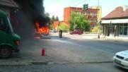 Кола изгаря като факла!!!
