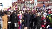 Czech Republic: Hundreds protest Xi Jinping's visit to Prague