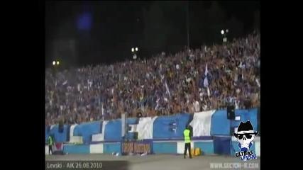 Levski Sofia Ultras, season 2010 2011, 1st half