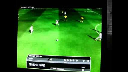 Fifa 09 гол от центъра !барселона - Реал Мадрид!левъл World class