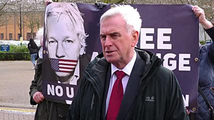 UK: Assange case 'Dreyfus' of our age says Shadow Chancellor McDonnell after prison visit