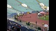 100 m final,  fal start