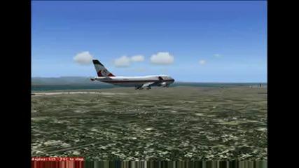 Boeing 747 И Къса Писта !!!