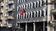 Средни пръсти, хвърлени бутилки към турското посолство