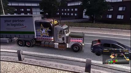 Euro Truck Simulator 2 #10 Мачка наред и топи бутала :d