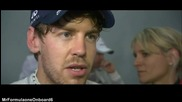 F1 Гран при на Малайзия 2012 - Vettel показва среден пръст на Karthikeyan заради пукнатата гума [hd]