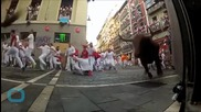 2 Injured, 1 Gored in Fast 2nd Pamplona Bull-run