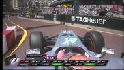 Отпадането на Шумахер Монако 2011