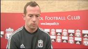 Първото интервю на Чарли Адъм като играч на Liverpool
