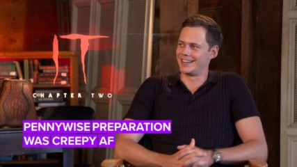 Bill Skarsgård scared the cast just by warming up for Pennywise