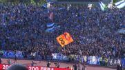 Феновете на Левски избухнаха при гола на Георги Миланов