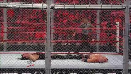 Кейн срещу Гробаря мач за световната титла в тежка категория - Ад в клетка 2010 - целият мач