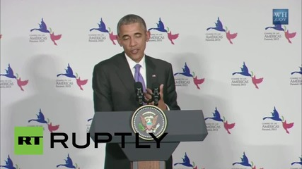 Panama: 'Overwhelming' support for US policy on Cuba - Obama