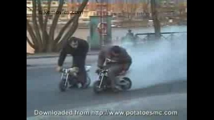Pocket Bike Burn Out