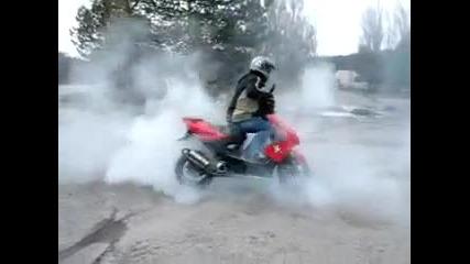 Yamaha Aerox 70cc Пали гумите