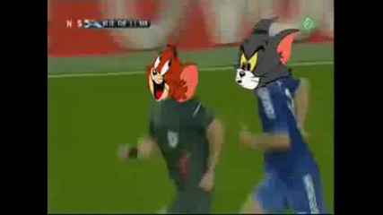Михаел Балак vs съдията - Пародия Tom & Jerry