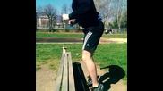 Скок върху пейка