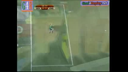 Майсторски шут на Лампард не остави шанс на вратаря, но голът не е зачетен. Англия - Германия (1 - 4