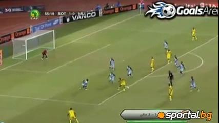 Мали - Ботсуана 2:1 - Дембеле с гол който помага на отбора му да се класира за четвъртфинал !!!