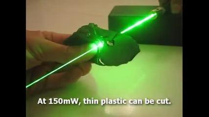 Зелени лазери режещи всичко...
