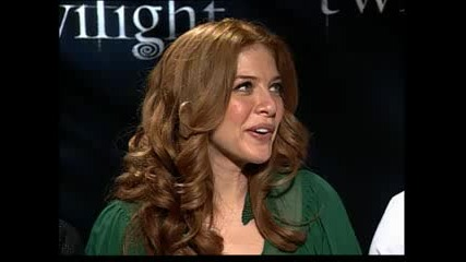 Taylor Lauther,  Rachelle Lefevre,  Edi Gathegi Interview For Twilight