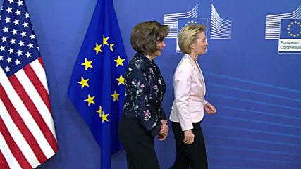 Belgium: Pelosi meets with Von der Leyen and Michel in Brussels