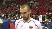 Теди Салпаров и Жоро Братоев след категоричната победа над Германия с 3–0 на четвъртфинал-а