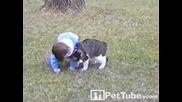 Котка Удари бебето