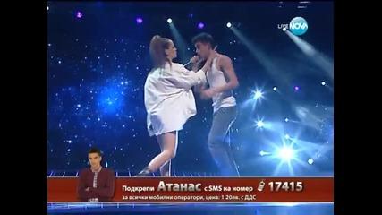 X Factor Атанас Колев и Нелина Георгиева Live концерт - 05.12.2013 г