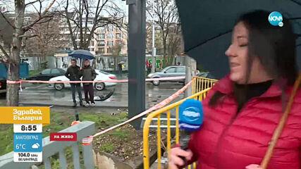 Тежка катастрофа в София, шофьор е откаран в болница