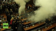 Serbia: Kosovan MP releases teargas in Parliament for fourth time in month