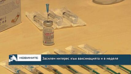 Засилен интерес към ваксинацията и в неделя